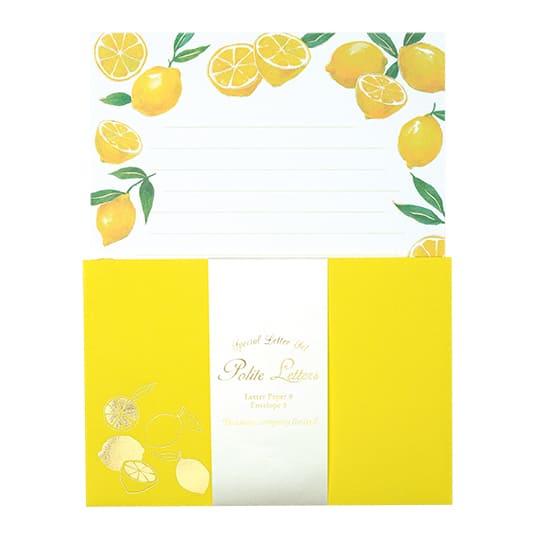 【レターセット】<br /> グリタリングレモン