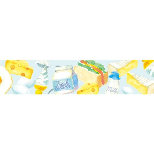 【マスキングテープ】<br /> カラフルフード W 15mm