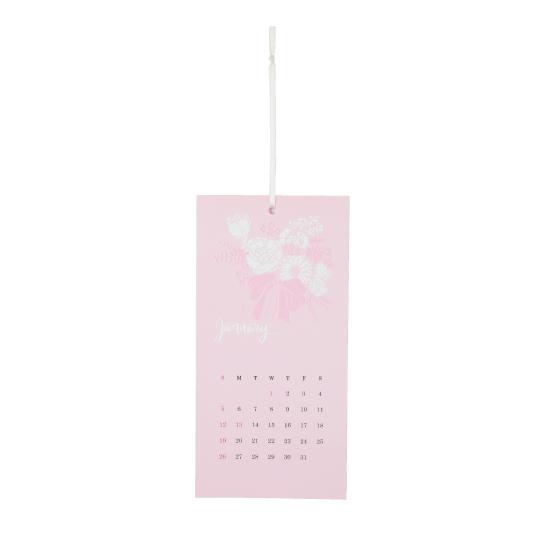 【カレンダー】<br /> エンボス ブーケ