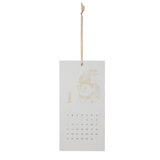 【カレンダー】<br /> エンボス ジャパンモチーフ