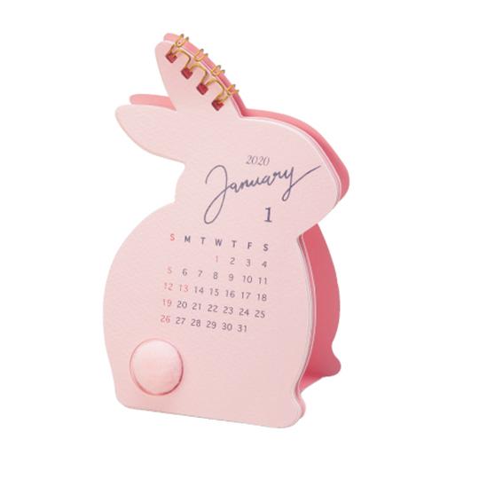 【カレンダー】<br /> ふわふわしっぽ ウサギ