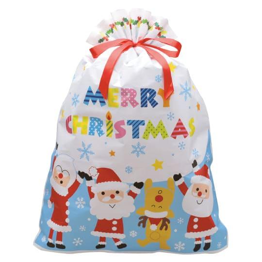 【巾着袋】<br /> キンチャク ハッピークリスマス LL