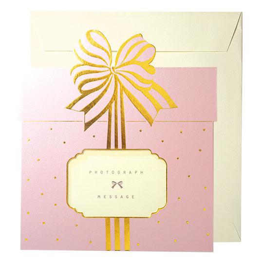 色紙 パールプレゼント ピンク