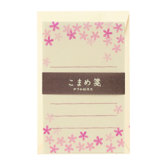 【ミニレターセット】<br /> こまめ箋 小花