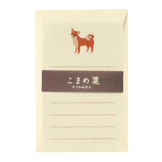【ミニレターセット】<br /> こまめ箋 柴犬