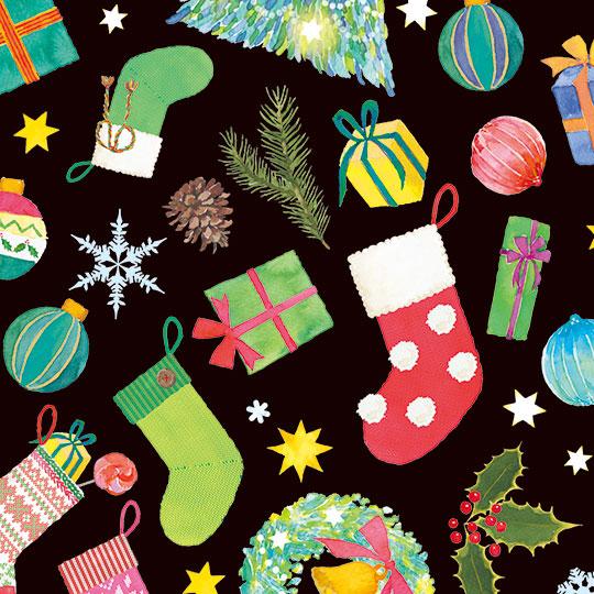 【包装紙】クリスマスプレゼント レギュラー