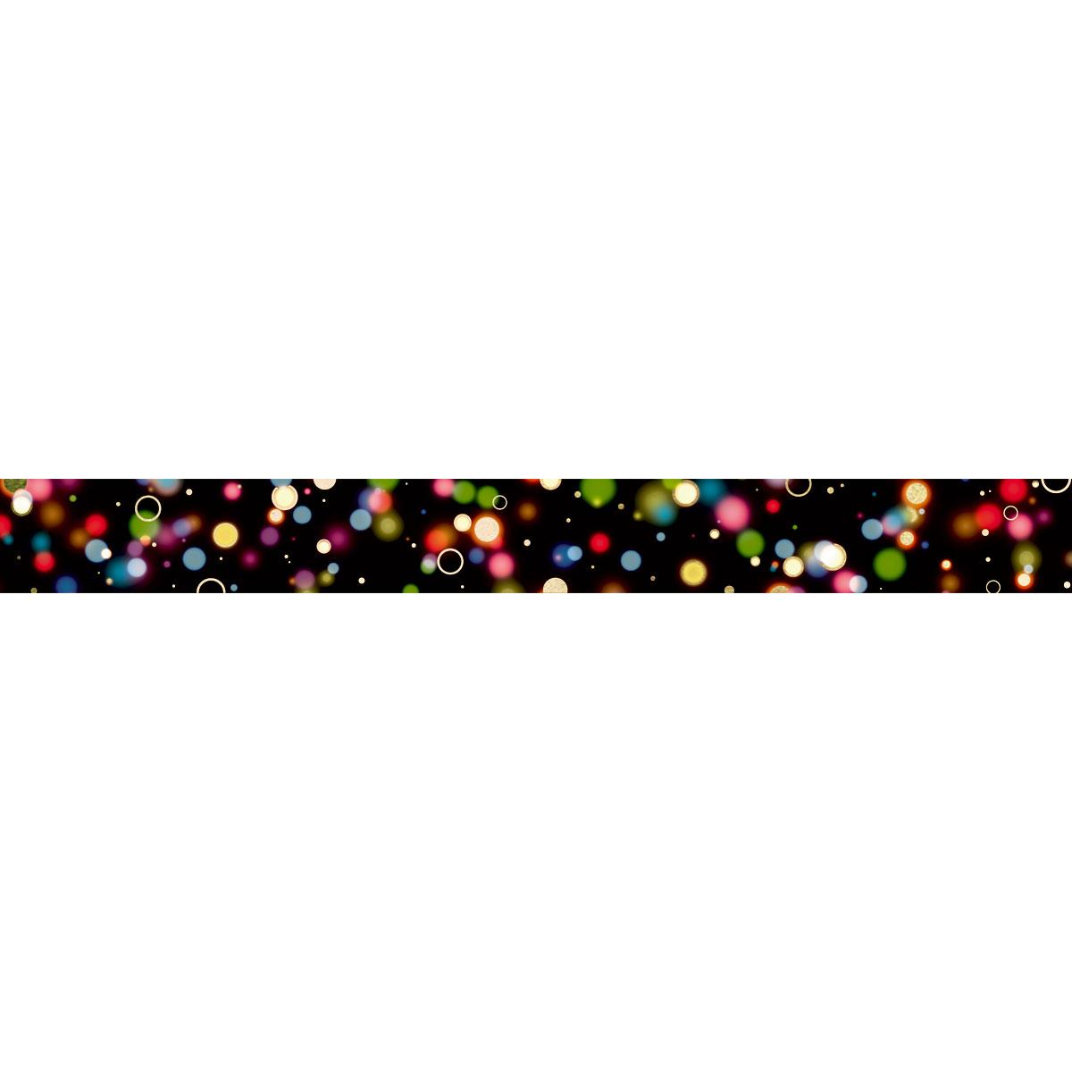【マスキングテープ】ネオンドット ブラック 15mm