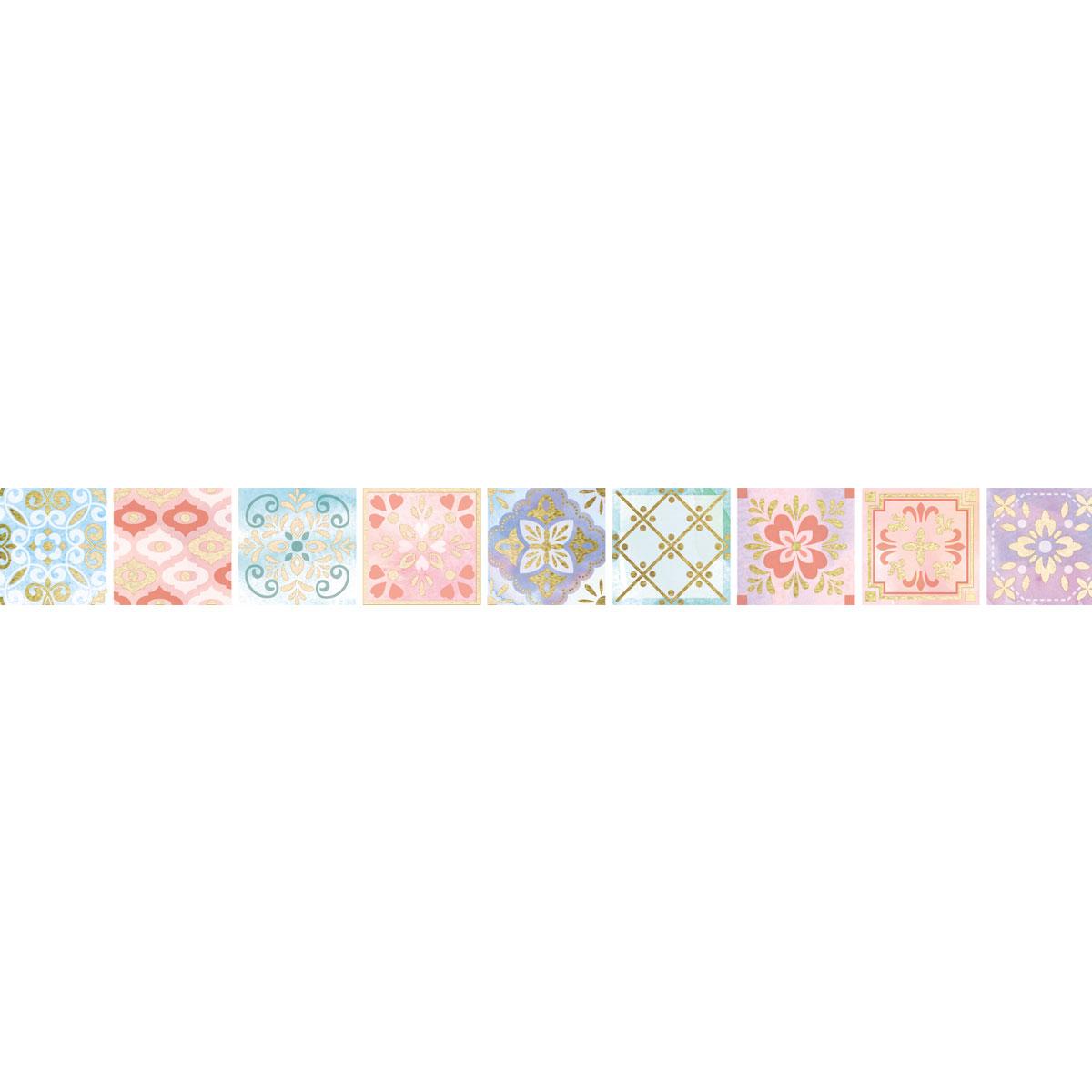 【マスキングテープ】タイル 15mm
