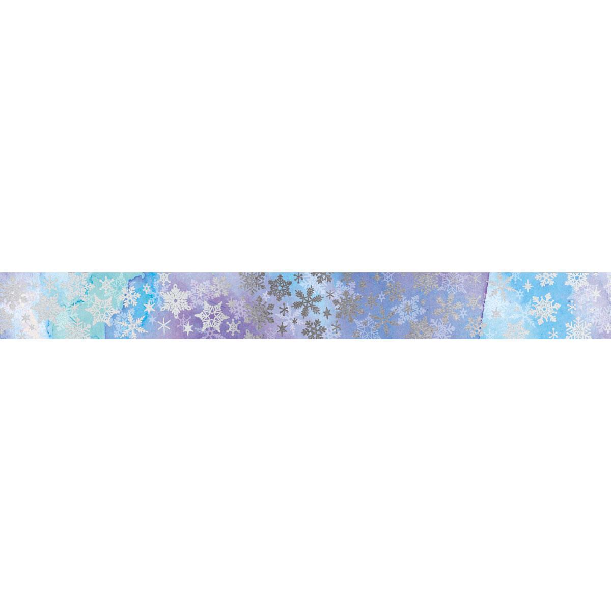 【マスキングテープ】スパークルスノー ブルー 15mm