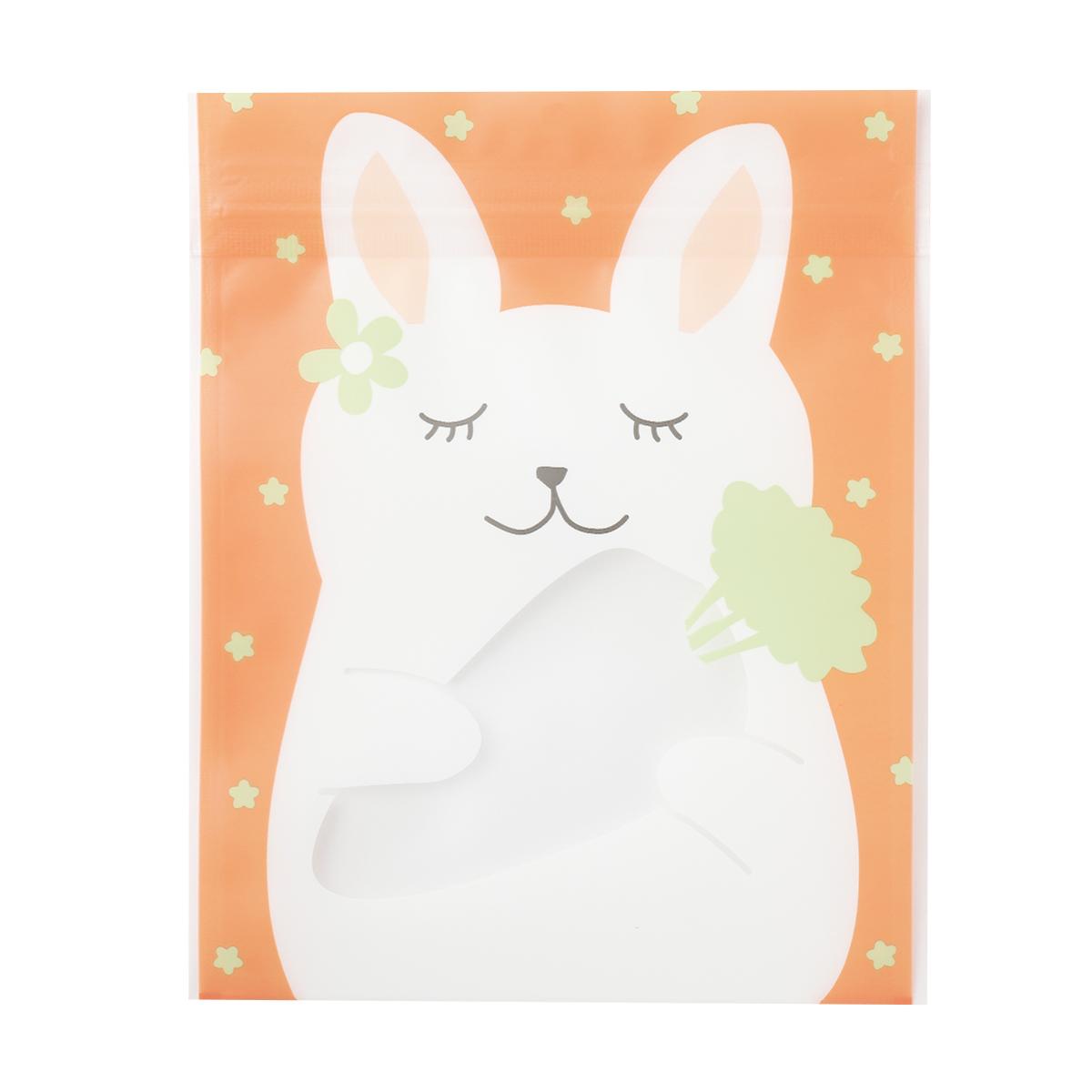 【ジッパーバッグ】ジップBAG ウサギ
